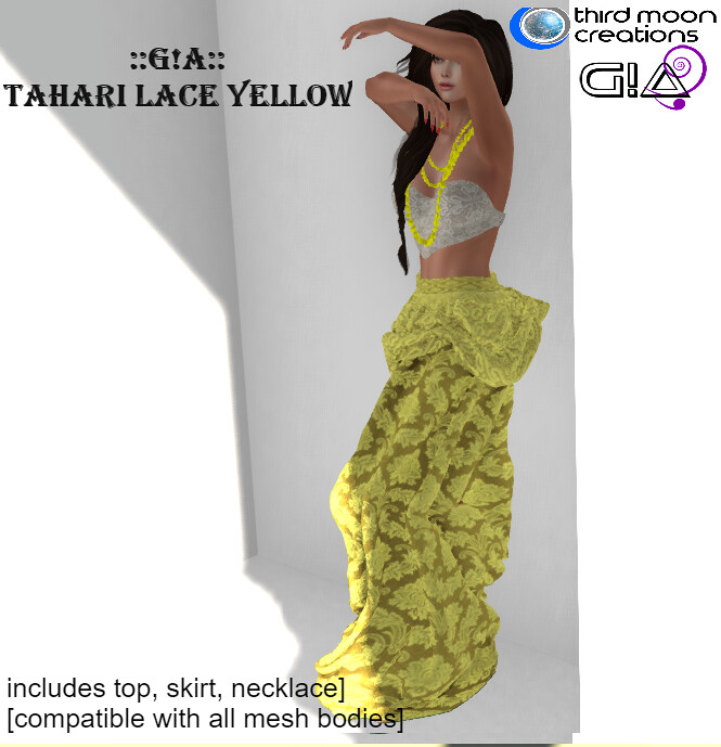 Tahari lace yellow vendor