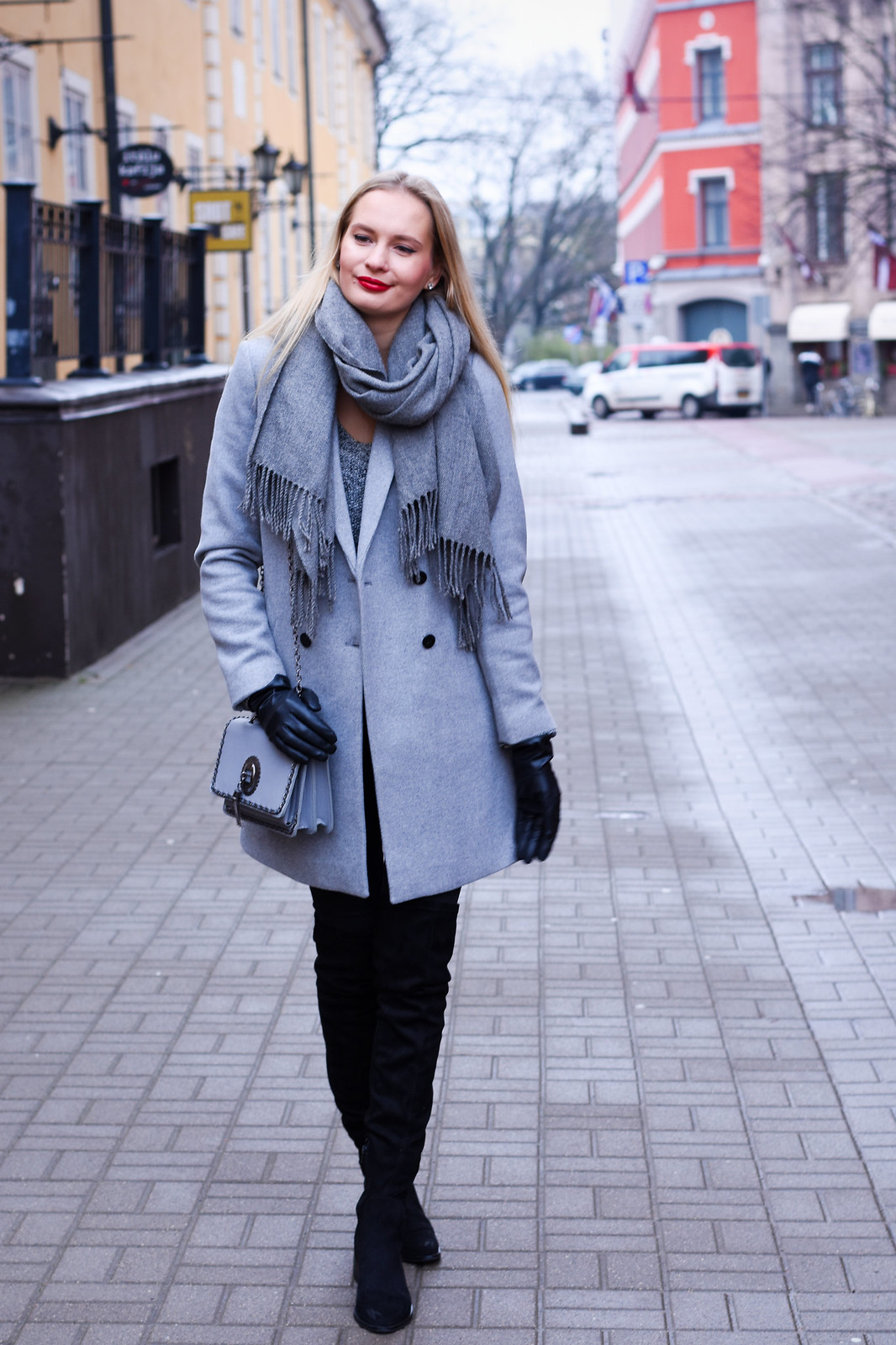 Styling a grey Zara coat