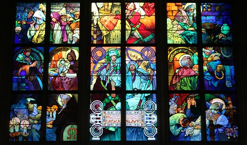 Mucha Window St Vitas Cathedral Prague, bottom | by rob.mcgonigle