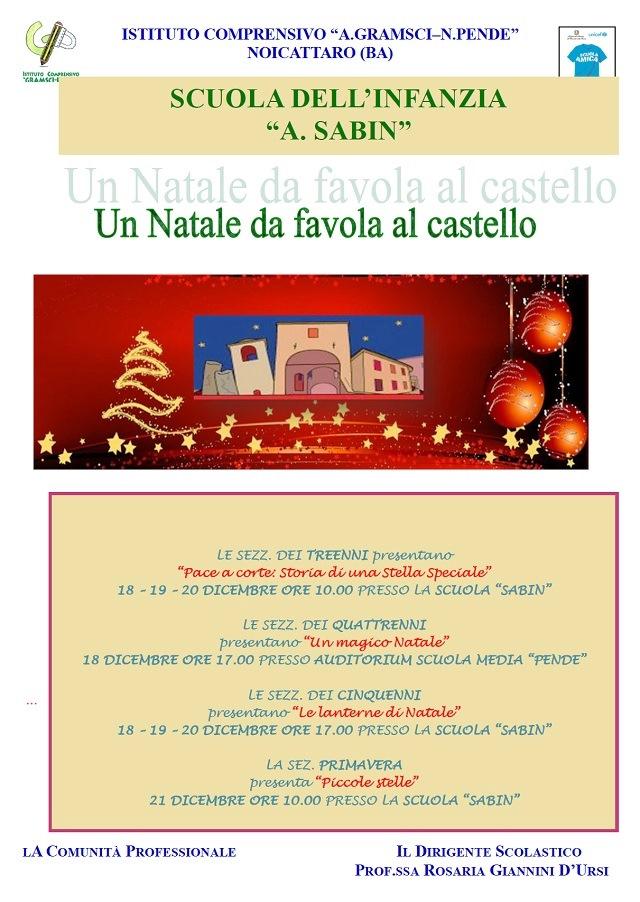 Noicattaro. Eventi Natale Sabin 2017 intero