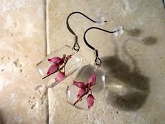 Heather flower earrings