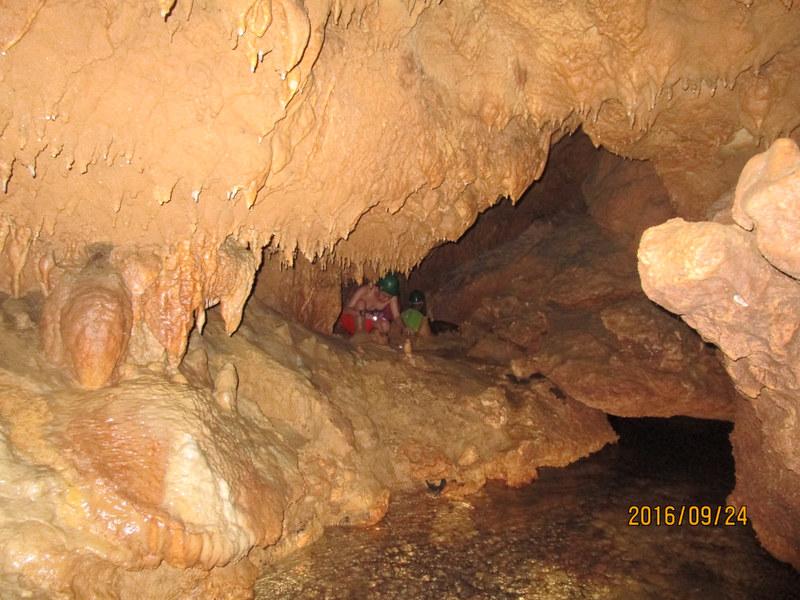 Underground stream in Maanghit Cave