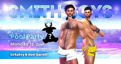 ✯ ✯ 12- 2 pm SLT - MONDAY POOLPARTY with The SmithBoys - FREE REINDEER COLLECTIBLE ✯ ✯
