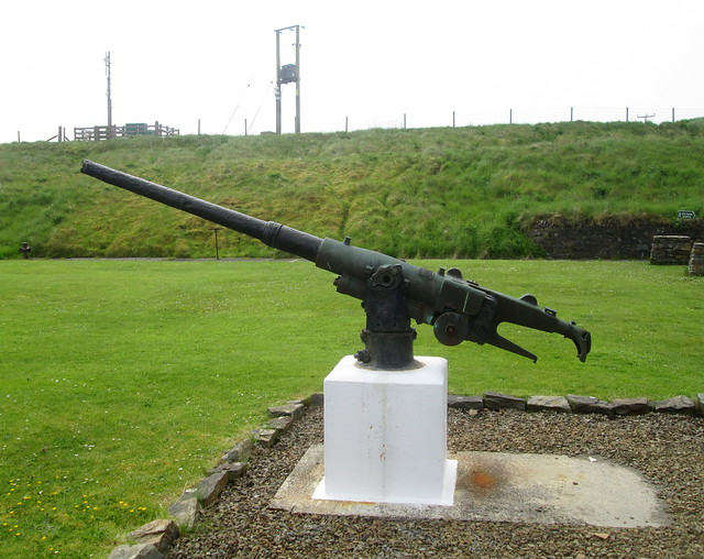 Fifth Gun,Lyness Naval Museum, Hoy, Orkney.