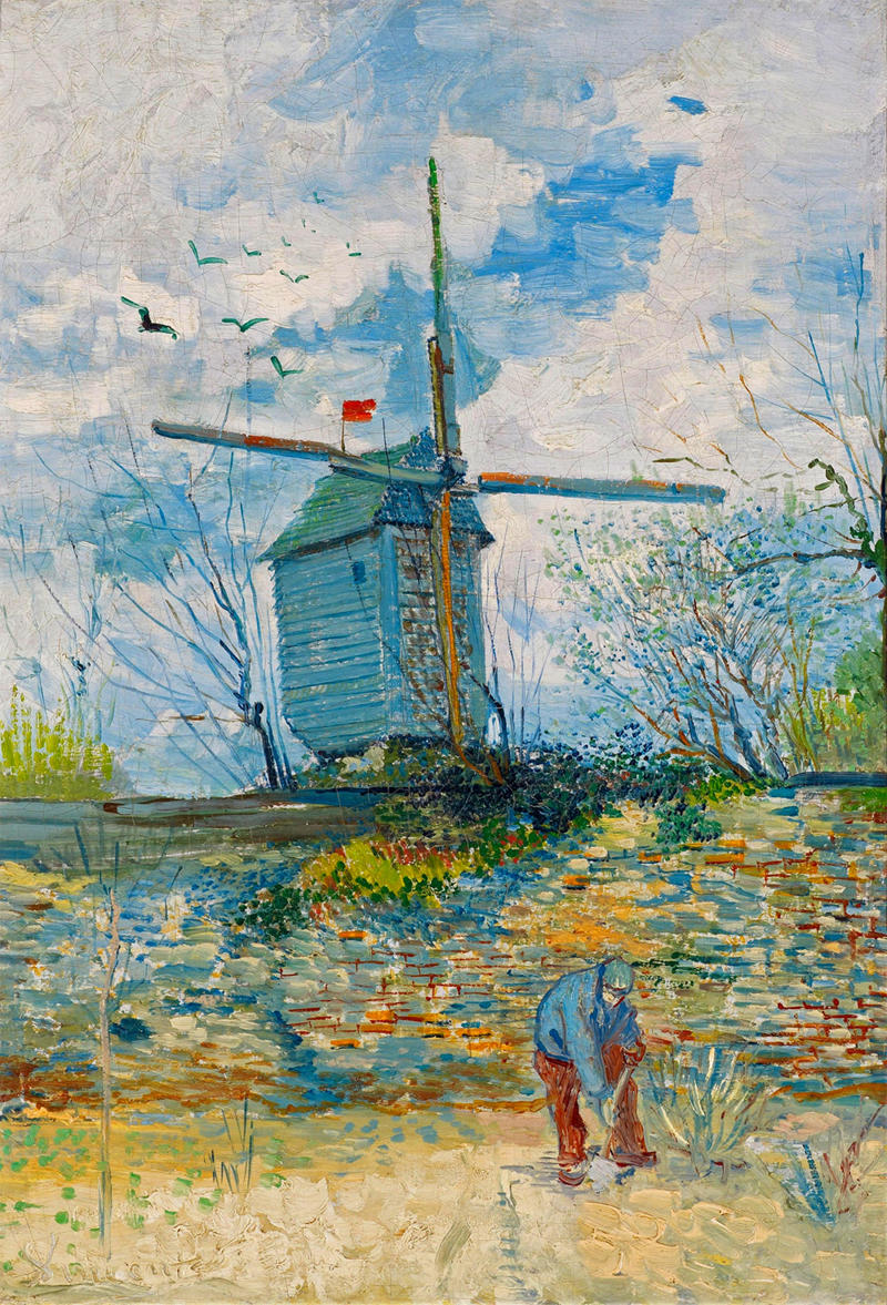 Le Moulin de la Galette by Vincent van Gogh, 1886