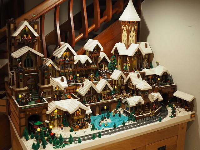 Lego Christmas Village - Full View
