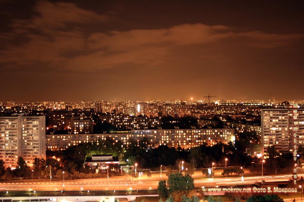 Ночная Москва вид на Копотню.