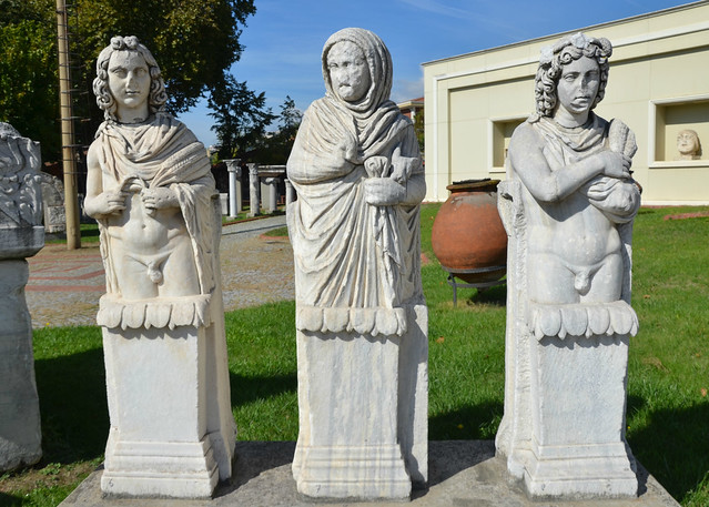 Marble statues depicting the seasons, from left to right: Summer, Winter and Fall, 2nd-3rd century AD, Kocaeli Museum Izmit, Turkey