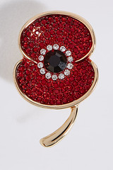 Marks & Spencer THE POPPY COLLECTION® SPARKLE POPPY BROOCH