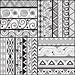Tribal striped hand drawn seamless pattern.