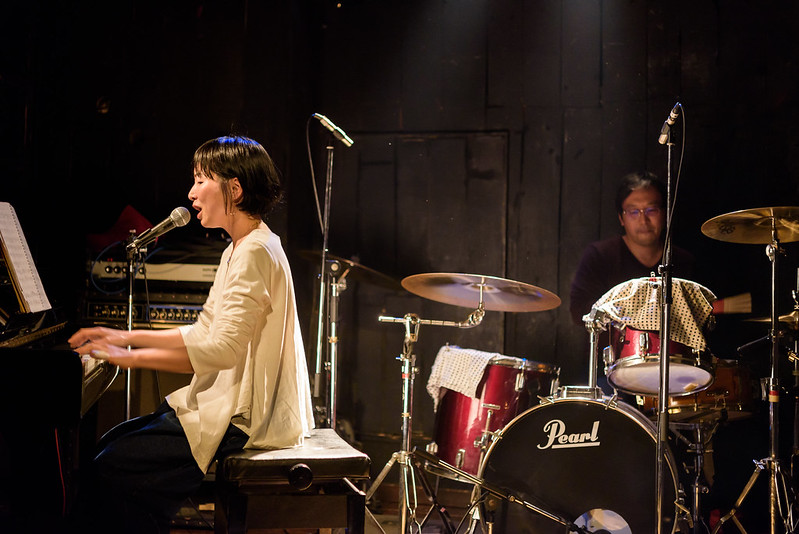 Sachiko Akimoto on Nice middle hour at Neonhall,NAGANO