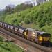 58031 Hauls Its M.G.R. train Through Harbury Cutting. 16.05.1986