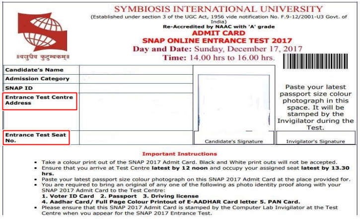 SNAP Test Centre location