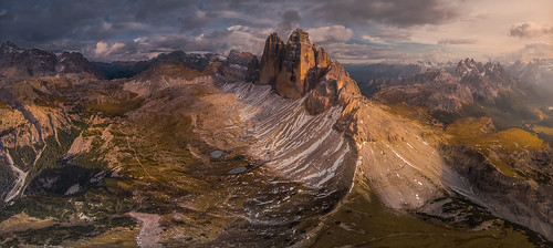 Tre Cime from the air
