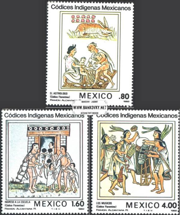 Známky Mexiko 1982 Mexické kódexy, nerazítkovaná séria