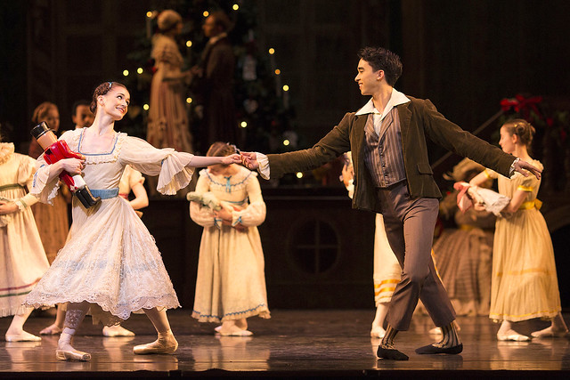 Anna-Rose O'Sullivan and Benjamin Ella in The Nutcracker © ROH 2016. Photograph by Helen Maybanks