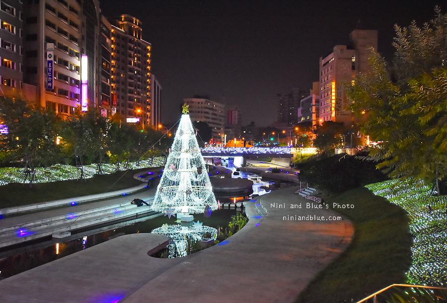 柳川藍帶水岸.聖誕節.台中景點08