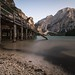 Lago di Braies / Pragser Wildsee at sunset