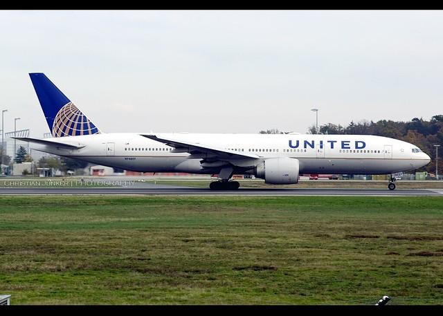 Boeing | 777-224/ER | United Airlines | N74007 | Frankfurt/Main | FRA | EDDF