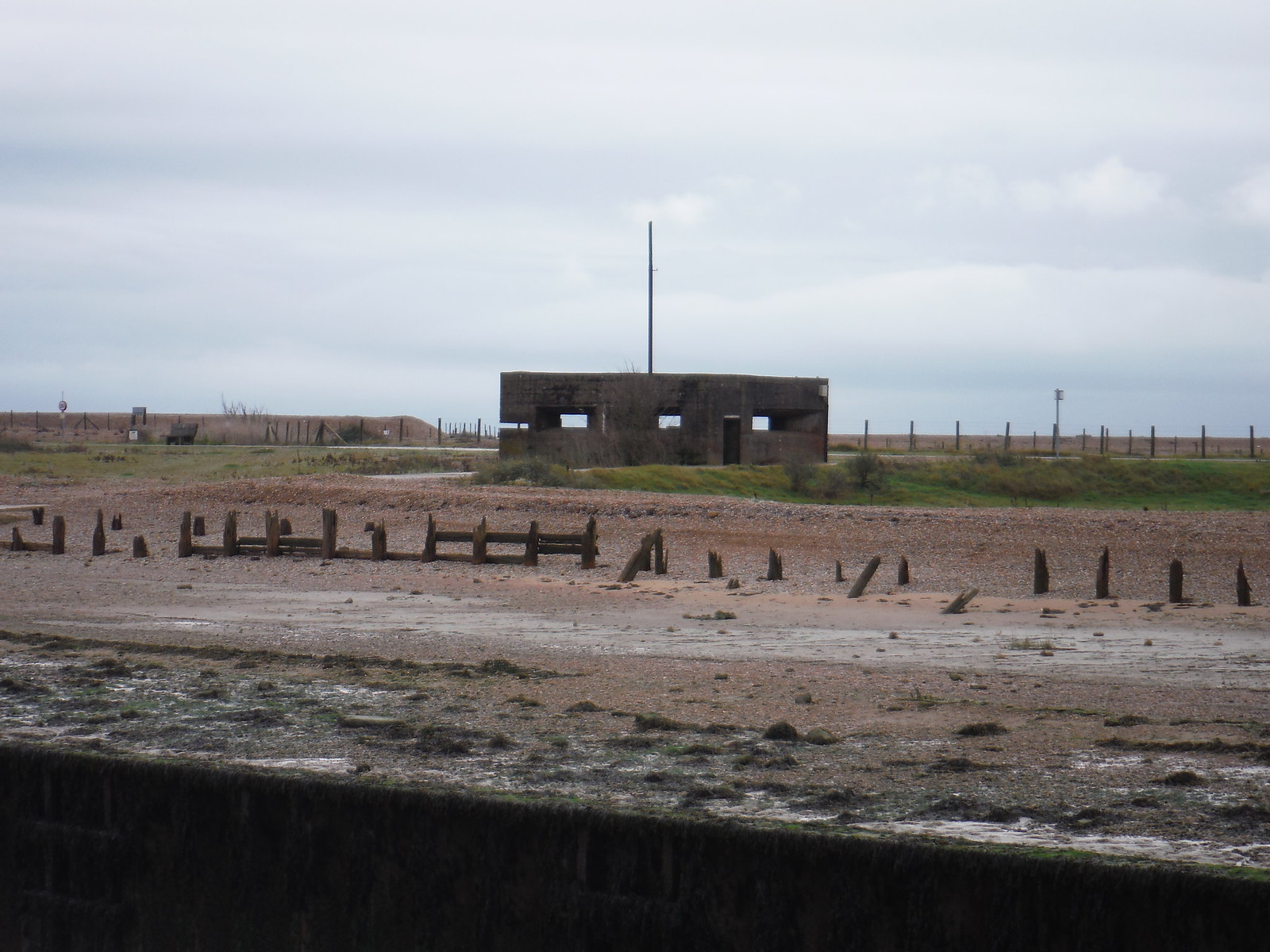 Gun Emplacement across the Rother SWC 154 - Rye to Dungeness and Lydd-on-Sea or Lydd or Circular
