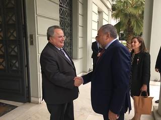 Συνάντηση ΥΠΕΞ, Ν. Κοτζιά, με τον Υπουργό Άμυνας του Ισραήλ A. Liberman (ΥΠΕΞ, 08.11.2017)