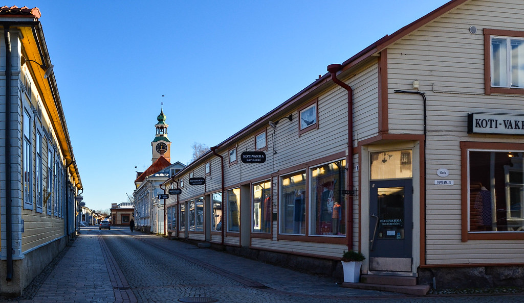 The street view in Old Rauma
