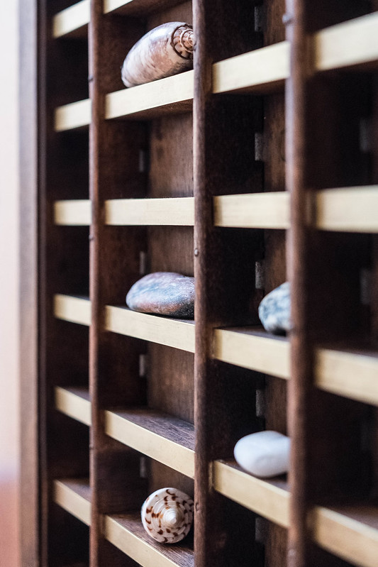Rocks on a shelf