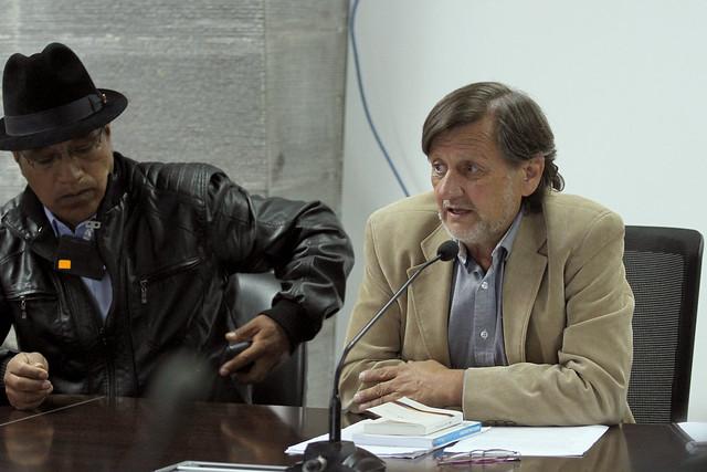 Reunión de Viceministro de Educación Álvaro Sáenz con Conaie