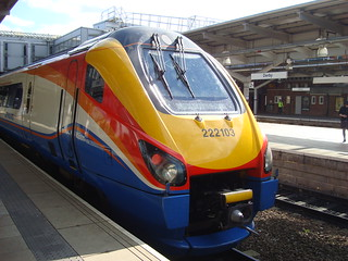 Class 222 DMU number 222103 at Derby station
