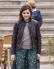 Jenna Coleman Black Leather Jacket