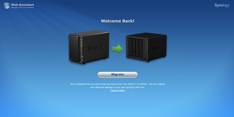 Synology Web Assistant - Step #2