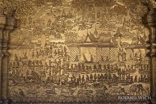 Luang Prabang - Bas Reliefs at Wat Mai Suwannaphumaham
