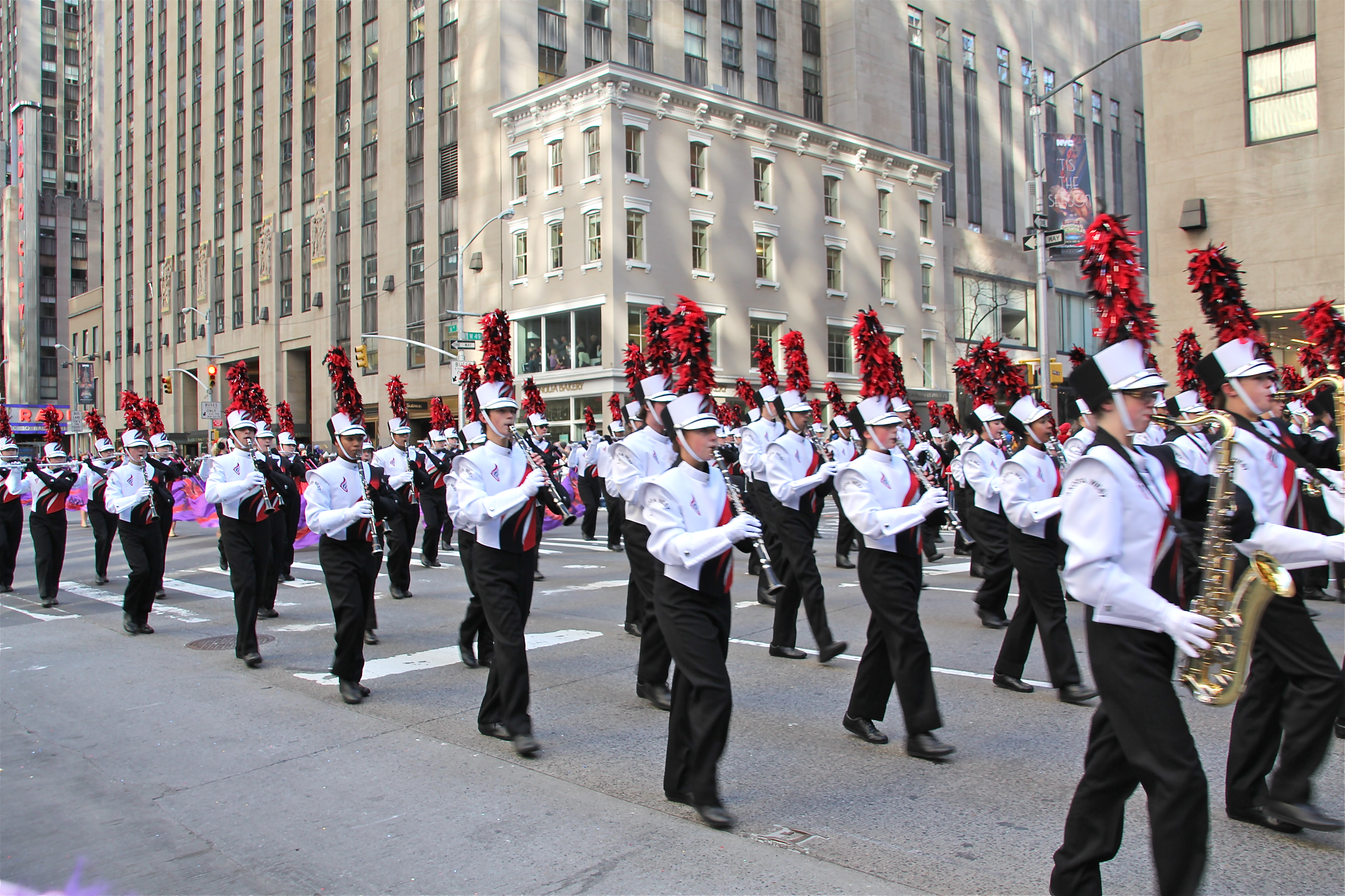 Thanksgiving Day parade in New York City. Photograph taken on November 28, 2013.