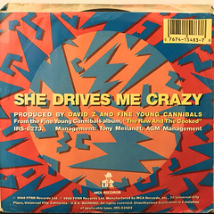 FINE YOUNG CANNIBALS:SHE DRIVES ME CRAZY(JACKET B)