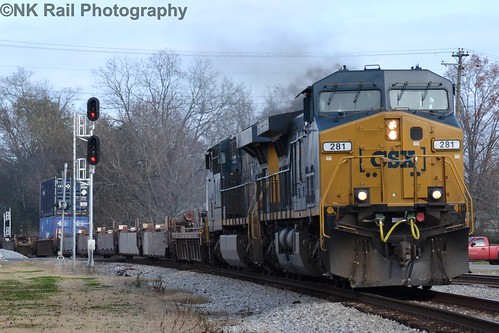 CSX Q126 heads pass the old Stevenson Depot.