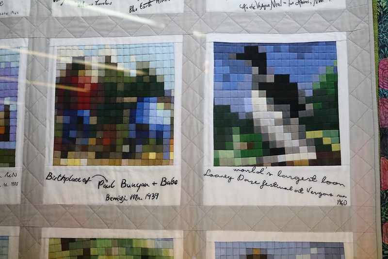 closeup of the two scenes that look like pixellated Polaroid photos with handwriting descriptions