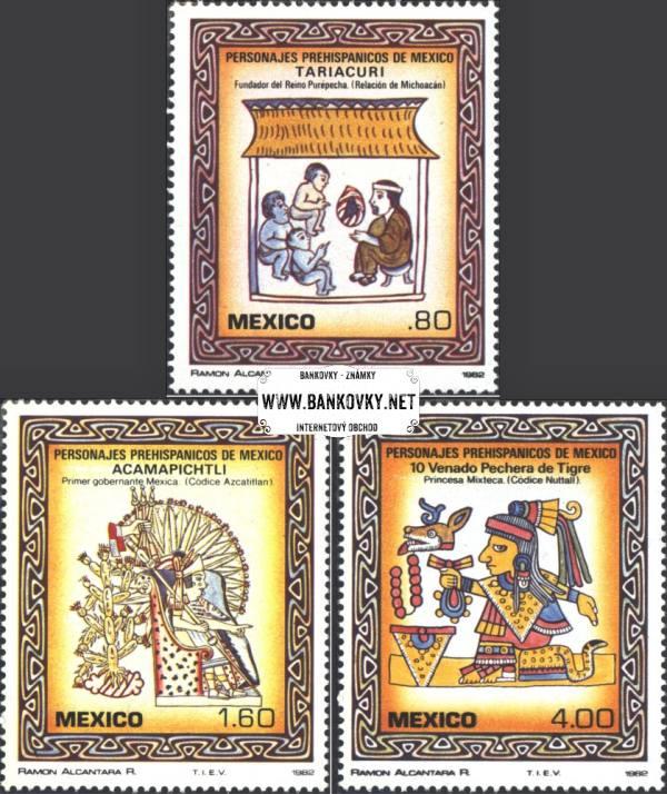 Známky Mexiko 1982 Mexické osobnosti, nerazítkovaná séria