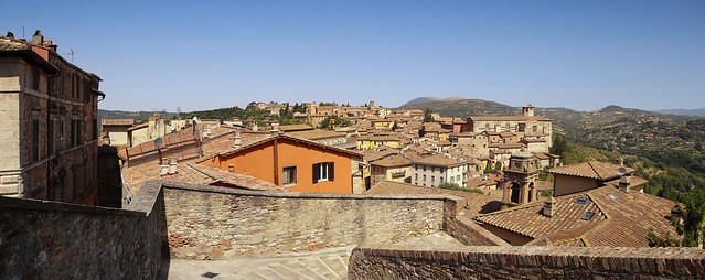 Magnificent view of the Umbrian hillside of Perugia