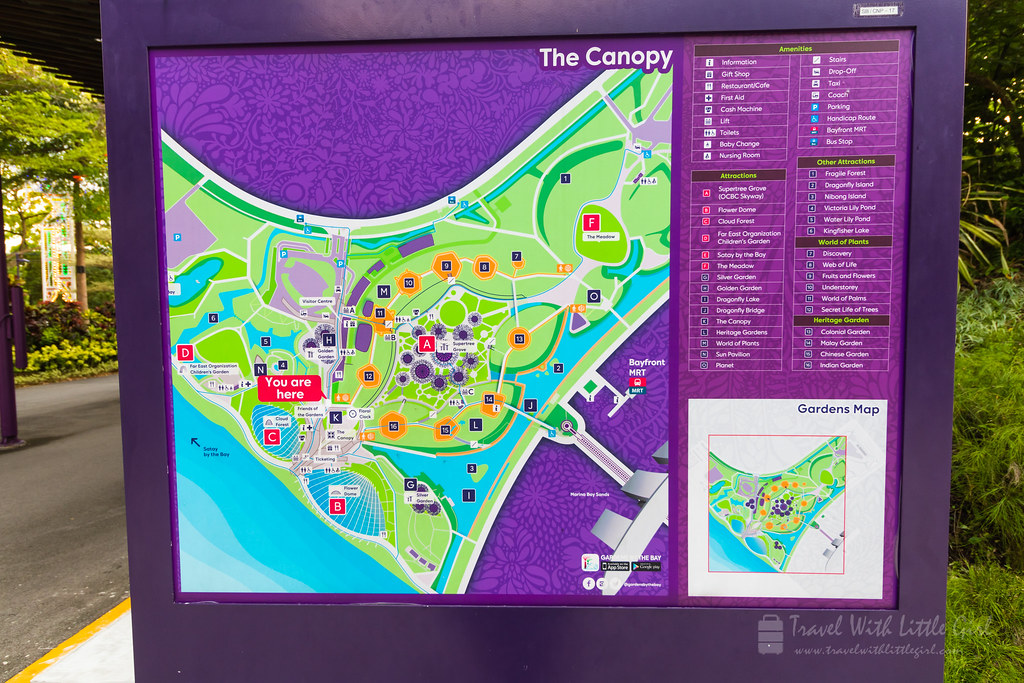 Garden by the Bay, Map