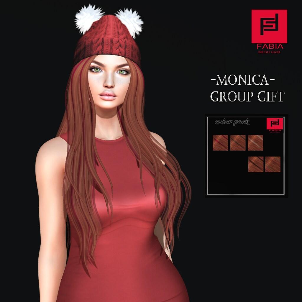 -FABIA- Mesh Hair   <Monica> Gift