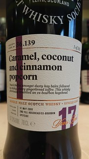 SMWS 36.139 - Caramel, coconut and cinnamon popcorn