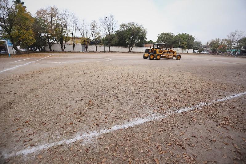Inicio de los trabajos de remodelación de la Unidad Deportiva no. 22