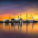 Petrochemical plant area with reflection in river by Patrick Foto ;)
