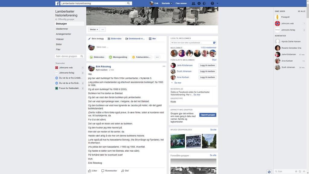 facebook lambertseter historieforening