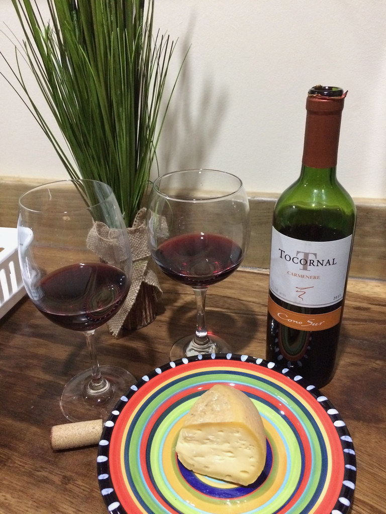 Tocornal Carmenere and Swiss Cheese