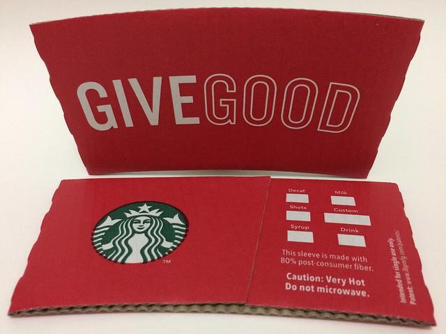Starbucks Taiwan 星巴克 GIVE GOOD