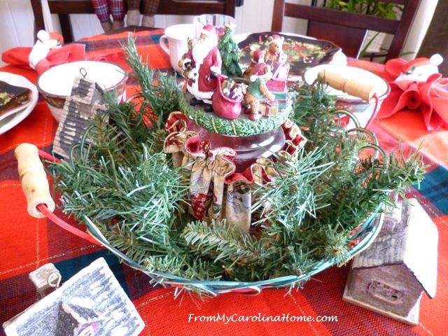 Christmas Breakfast Table at From My Carolina Home