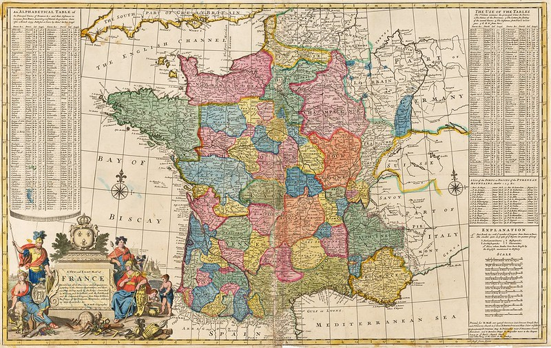 Herman Moll - A New and Exact Map of France Dividid into all its Provinces and Acquisitions, according to the Newest Observations (c.1730)