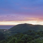 18. November 2017 - 20:11 - View from a ridge, towards Bethells Beach, November 18