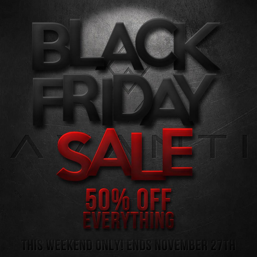 50% off BLACK FRIDAY SALE @ AVANTI! - TeleportHub.com Live!